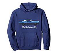 Oldsmobile Cutlass 1969 Convertible Classic Car Shirts Hoodie Navy