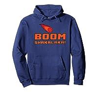 Retro Boomshakalaka Basketball Shirts Hoodie Navy