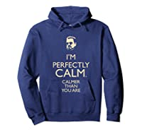 Dudeism Perfectly Calm Shirts Hoodie Navy
