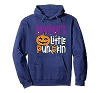 Pawpaw's Little Pumpkin Halloween Cute Pumpkin Gifts Shirts Hoodie Navy
