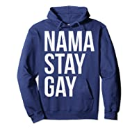 Namaste Gay Lgbt Pride Parade T Shirt Hoodie Navy