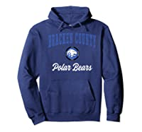 Bracken County High School Polar Bears Premium T-shirt Hoodie Navy