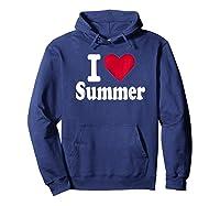 Love Summer Shirts Hoodie Navy