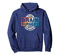 Brain Surgery Shirt Survivor Post Cancer Tumor Recovery Gift Hoodie Navy