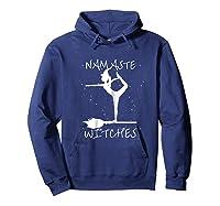 Namaste Witches Halloween Yoga T-shirt Hoodie Navy