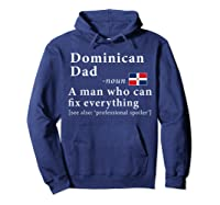 Dominican Dad Definition Dominican Republic Flag Fathers Shirts Hoodie Navy