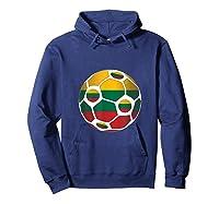 Lithuania Flag Soccer Ball Team Fan Shirt Hoodie Navy