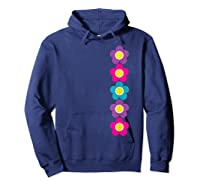 Daisy Flower Pattern Happy, Fun, Bright And Colorful Shirts Hoodie Navy
