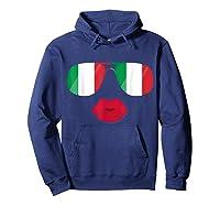 Flag Italia Sunglasses Lips Italian Flags Italy Shirts Hoodie Navy