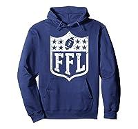 Fantasy Football Retro Distressed Ffl Logo Champion Gift Shirts Hoodie Navy