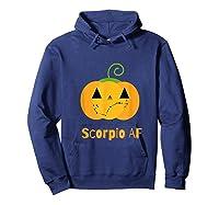 Scorpio Af Zodiac Constellation T-shirt Hoodie Navy