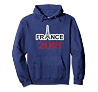 France Soccer Football Team Fan Flag Shirts Hoodie Navy