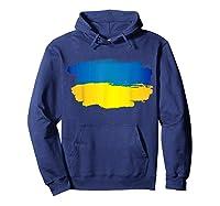 Ukraine Flag Paint Style T-shirt Hoodie Navy
