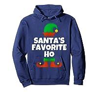 Santa's Favorite Ho Funny Family Christmas Gift T-shirt Hoodie Navy