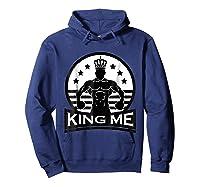 Grand Arte: King Me Boxing T-shirt Hoodie Navy