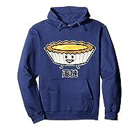 Happy Egg Tart Custard Crust Chinese Dessert Dim Sum T-shirt Hoodie Navy