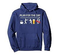 Zombie Hunter Adult Humor Halloween Premium T-shirt Hoodie Navy