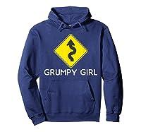 Sarcastic Funny Grumpy Girl Humor Shirts Hoodie Navy