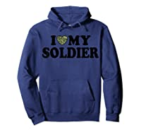 Love My Soldier Army Multicam Camo Camouflage Heart Shirts Hoodie Navy