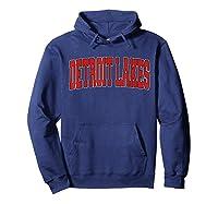 Detroit Lakes Mn Minnesota Varsity Style Usa Vintage Sports T-shirt Hoodie Navy