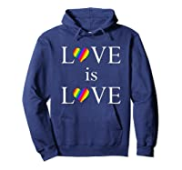 Love Is Love Lgbt Rights Shirts Hoodie Navy