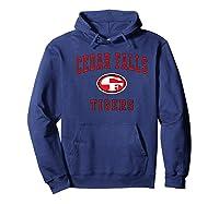Cedar Falls High School Tigers C1 Shirts Hoodie Navy