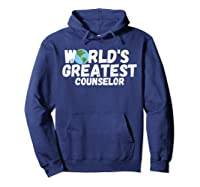 World's Greatest Counselor Gift Shirts Hoodie Navy