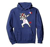Soccer Unicorn France Design French Football Gift Premium T-shirt Hoodie Navy