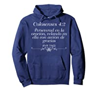 Camisetas Cristianas Con Versiculo Biblico Colosenses 42 Shirts Hoodie Navy