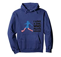 Soccer T-shirt For With Quote Hoodie Navy