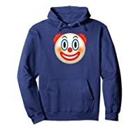 Cool Graphic Design Clown Emoji Face Funny Shirts Hoodie Navy