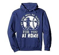 Baseball Mom Apparel Baseball Dad Merchandise Premium T-shirt Hoodie Navy
