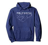 Philly Special Distressed Shirts Hoodie Navy