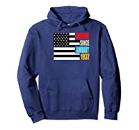 Awesome Since January 1937 Birthday Gift Usa Flag Retro Shirts Hoodie Navy