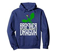 Brother Dragon Christmas Shirt Matching Family Tribe Son Boy T-shirt Hoodie Navy