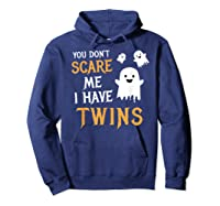 Funny Parents Of Twins Shirt Halloween Gift Hoodie Navy