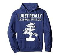 Like Bonsai Trees Anime Japanese Culture Zen Gift Shirts Hoodie Navy
