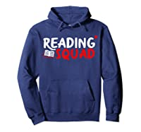 Book Reading Bookworm Librarian Library T-shirt Hoodie Navy