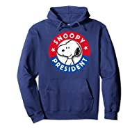 Peanuts Snoopy For President Shirts Hoodie Navy