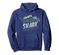 Grumpa Shark Doo Doo Funny Grandpa Father\\\'s Day Gift T-shirt Hoodie Navy