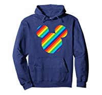 Mickey Mouse Rainbow Icon Shirts Hoodie Navy