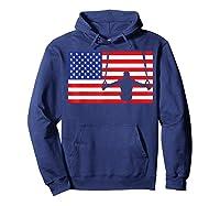 Gymnastics Rings Usa American Flag Gymnast 4th Of July T-shirt Hoodie Navy