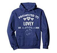 Promoted To Lovey Est 2020 Shirt Gift For Mom T-shirt Hoodie Navy