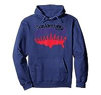 Hands Across America T Shirt Hoodie Navy