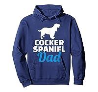 Cocker Spaniel Dad T-shirt Hoodie Navy