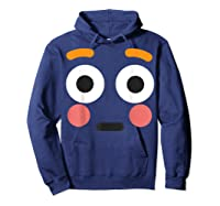 Flushed Face Emoji Easy Lazy Group Halloween Costume Shirts Hoodie Navy