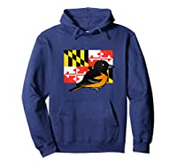 State Birdorable Of Maryland Cute Baltimore Oriole Shirts Hoodie Navy