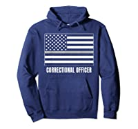 Correctional Officer Shirt Thin Gray Line T-shirt Gift Hoodie Navy