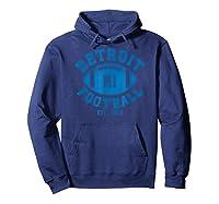 Detroit Football Vintage Michigan Retro Lion Gift Shirts Hoodie Navy