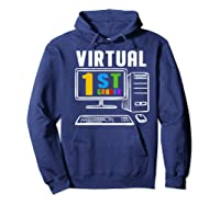 Remote Teaching Online Learning Virtual Tea Premium T-shirt Hoodie Navy